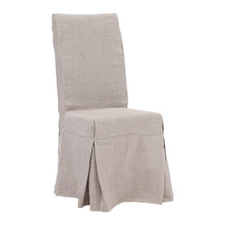 "Zuo - Zuo Dogpatch Beige Accent Chair - Solid wood relaxed design accent or dining chair. Molded foam seat with a beige linen fabric cover. Slipcover has 4 ties in the back for added flair. A chic addition to your home from Zuo Modern. 16 1/2"" wide. 19 3/4"" deep. 40 3/4"" high. Seat is 16 1/2"" wide 16 3/4"" deep and 19 3/4"" high. Fully assembled.  Solid wood relaxed design accent or dining chair.  Molded foam seat with a beige linen fabric cover.  Slipcover has 4 ties in the back for added flair.  A chic addition to your home from Zuo Modern.  16 1/2"" wide.  19 3/4"" deep.  40 3/4"" high.  Seat is 16 1/2"" wide 16 3/4"" deep and 19 3/4"" high.  Fully assembled."