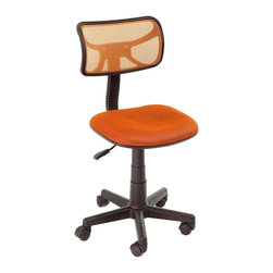 Simple Office Chair Swivel  Chair Gaming Chair, Orange - Product Description: