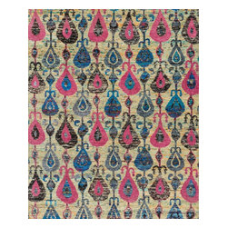 "Loloi Rugs - Loloi Rugs Giselle Collection - Fiesta, 5'-6"" x 8'-6"" - The radiant Giselle Collection is hand knotted entirely of refurbished sari silks from India. Each design reverberates in stunning colors like ruby red and sapphire blue that make for an incredibly vibrant collection, ideal for contemporary to transitional interiors."