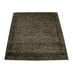 1800GetARug - Khotan Vegetable Dyes Hand Knotted Rug Silk Sh10665 - About Wool Pile