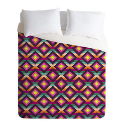 DENY Designs - Bianca Green Aztec Diamonds Hammock Duvet Cover - Turn your basic, boring down comforter into the super stylish focal point of your bedroom. Our Luxe Duvet is made from a heavy-weight luxurious woven polyester with a 50% cotton/50% polyester cream bottom. It also includes a hidden zipper with interior corner ties to secure your comforter. it's comfy, fade-resistant, and custom printed for each and every customer.