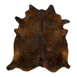 Saddleman's of Santa Fe - Dark Brindle Cowhide, X-Large - M:  6x6 (28-35 sqft)