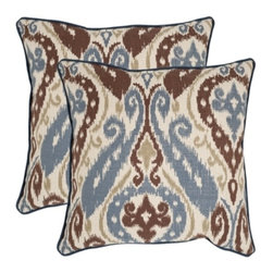 Safavieh - Charlie Accent Pillow  - 18x18 - Brown - Charlie Accent Pillow  - 18x18 - Brown