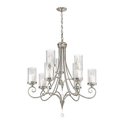 Kichler - Kichler 42863CLP Lara Classic Pewter 9 Light Chandelier - Finish: Classic Pewter