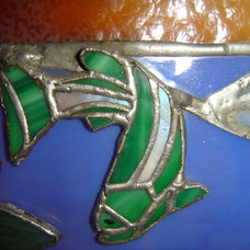 tropical artwork by Stone Carving and Glass Creations