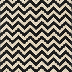 "Loloi Rugs - Loloi Rugs Shelton Collection - Black / Ivory, 3'-10"" x 5'-7"" - Power-loomed in Turkey of durable polypropylene, Shelton's vivid, graphic designs spotlight�dramatic zigzag chevrons, elegant ironwork and Moroccan tile motifs in a palette that is�pleasing for both him and her. Zen-like, earthy hues of rich black, brick, brown, ivory, misty�blue and camel set a surprisingly soothing tone that can help add style to your home and�order to your day.�"