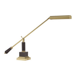 House Of Troy - House Of Troy Counter Balance Transitional Piano/Desk Lamp - Short Arm X-M-091-0 - Stationary 24 inch arm piano/desk lamp with 11 foot black cord with transformer. Shade swivels to direct light. Switch on base.