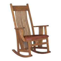Chelsea Home Furniture - Chelsea Home Troyer Wide Seat Rocker - Bird Standard - Chelsea Home Furniture proudly offers handcrafted American made heirloom quality furniture, custom made for you.