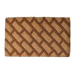 Imports D̩cor - Diagonal Bricks Door Mat (ID686TCM) - Diagonal Bricks