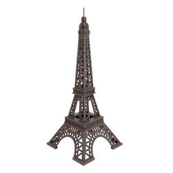 """Benzara - The Grand Wood Eiffel Tower - Have you seen the Eiffel tower in real? Or just like the heights man has reached when it comes engineering? Well, whatever the case, you will love this wood Eiffel tower. A great item to display in your living room, this will remind one and all of the Eiffel tower. In what is a fairly large size, this tower won't just show your admiration towards our progress and our potential, but it will also add definition to your roomG��giving it a depth that cannot be created without something as grand and as impactful as this tower.Additionally, this tower has been made using quality materials; this ensures that it will last in tiptop condition for years to come. All who see it will certainly be impressed. Indeed, this is one of the best ways to decorate your house with. So consider getting this Eiffel towerG��a most amazing creation. Wood Eiffel tower dimensions: 27 inches (W) x 27 inches (D) x 67 inches (H); Wood Eiffel tower color: Dark gray; Made from: Wood; Dimensions: 31""""L x 25""""W x 29""""H"""