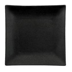 CAC China - Japanese Style 11 1/2 inch Square Plate Non Glare Glaze Black - Case of 12 - C.A.C. China provides durable dinnerware at all levelsincluding super white porcelain fine bone china American white chinacolored glaze china and Asian style china. C.A.C China offers a variety of innovative shapes from square rectangular triangular wavy to round that will brighten up any tables for modern trendy restaurants hotels resorts clubs caterers cruises etc. All C.A.C China products are oven microwave and dishwasher safe.