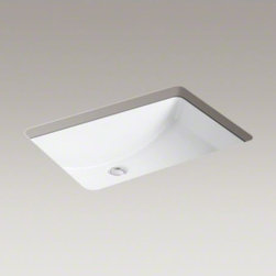 "KOHLER - KOHLER Ladena(R) 23-1/4"" x 16-1/4"" x 8-1/8"" undermount bathroom sink - With its unique curved bottom and clean lines, Ladena evokes casual elegance. This spacious and distinctive sink has a smooth, glazed rim for a polished look and is versatile enough to complement traditional and modern bathrooms."