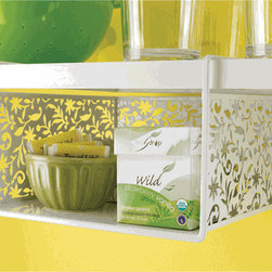 Vinea Undershelf Basket, White - Make the most of your cabinet or pantry space with this clever (and pretty) undershelf basket!