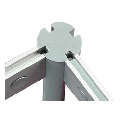 """LOFTwall - Loft Wall Link - The Loft wall Link is a connector post that supports up to four Loft wall panels. It is 12"""" deep for stability, made from lightweight aluminum, and takes the place of one of the Loft wall panel ends."""