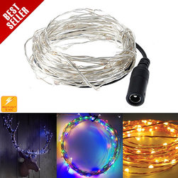 CELEBRIGHT LED Holiday Lights - Get unique, festive, low-voltage LED holiday lighting and Christmas LED lights with Celebright! Multi-color, warm white or blue lights come on an attractive, shiny wire string. Bend the wire any way you like, the lights will stay in place. Plus, Celebright is ultra-thin and low-profile, making it perfect for all your holiday decorating needs.