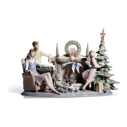 "Lladro Porcelain - Lladro A Family Christmas Figurine - Plus One Year Accidental Breakage Replaceme - ""Hand Made In Valencia Spain - Sculpted By: Francisco Polope - Limited To: 750 Pieces Worldwide - Included with this sculpture is replacement insurance against accidental breakage. The replacement insurance is valid for one year from the date of purchase and covers 100% of the cost to replace this sculpture (shipping not included). However once the sculpture retires or is no longer being made, the breakage coverage ends as the piece can no longer be replaced. """