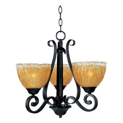 Maxim Lighting - Maxim Lighting 13413Aioi Barcelona 3-Light Chandelier - Maxim Lighting 13413AIOI Barcelona 3-Light Chandelier