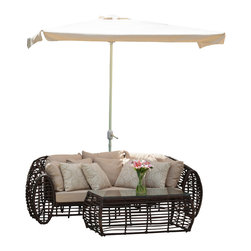 Great Deal Furniture - Garcia Outdoor Ivory Patio Half Canopy - The Garcia Half Sun Canopy makes a perfect shade solution for you and your guests. The lever allows you to adjust the height of the canopy for your convenience. Function and form go hand in hand with this durable piece, designed to give you all of the benefits of being outdoors at no cost to comfort.