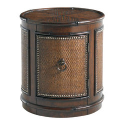 Tommy Bahama Home - Tommy Bahama Sandpiper Round Lamp Table in Rich Tobacco Finish - Tommy Bahama Home Landara Sandpiper Round Lamp Table in Rich Tobacco Finish 01-0545-950