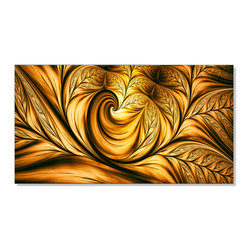 Fabuart - Golden Dream Abstract Art on Canvas - 32W x 16H - 1 Panel - This Fire Golden Dream Abstract design is printed in high quality fade resistant ink on premium quality cotton canvas. This abstract design is sure to be the center piece of any room it is placed in. All of our graphic canvas prints are gallery wrapped around solid wood subframes, carefully packaged and arrive to you, ready to hang on the wall. Our printing technology allows for a crisp, deep canvas print which is never pixelated.