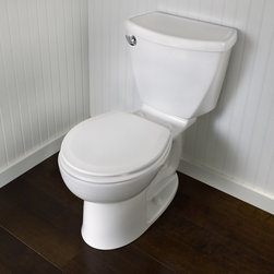 American Standard Cadet 3 Right Height Flowise Round Front Toilet - Smarter design for higher performance and fewer clogs – all at a great price. The Cadet® 3 series toilets come in a variety of styles; one piece and two piece models, elongated and round front bowls, right height and compact versions and even water efficient models that flush on just 1.28 gallons per flush. The Cadet 3 is a hard working versatile series with superior performance.