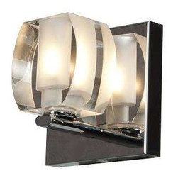 Access Lighting - Access Lighting 62286-CH/CRY Evia Modern Bathroom Light - Chrome - Access Lighting 62286-CH/CRY Evia Modern Bathroom Light In Chrome