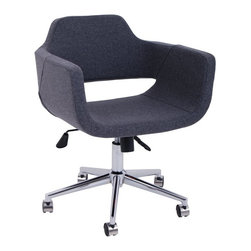 Minetta Office Chair by Nuans Design - Commercial grade high density foam seat and back cushion. Seat made in Turkey office base made in Italy.