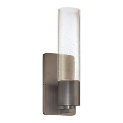 George Kovacs - Light Rain 1-Light Wall Sconce - Night vision: This sconce illuminates with the illusion of light rain on a glass shade, all while banishing the darkness in your hallway, kitchen or bath.