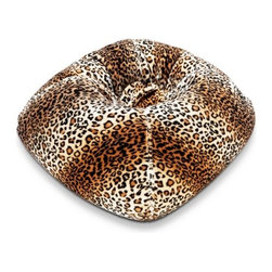 "Ace Bayou - Ace Bayou 9804201 Leopard Fur Bean Bag - 098 Fur Round Bean Bag Leopard Print. Durable fur fabric and double stitched seams for durability. Ergonomic seating position. Great for reading, playing video games, watching TV, relaxing. Approximate dimensions: L 32"" x W 30"" x H 13""."