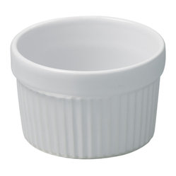 Revol - Revol Porcelain Grands Classiques Individual Souffle - Whether or not you know what to put inside a ramekin doesn't really matter, it's the ramekin that counts. With smooth sides and an individual portion size you can put anything from a single-size soufflé to a display of mixed nuts for poker night and it will present with baller status.