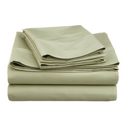 600 Thread Count Cotton Rich Cal. King Sage Sheet Set - Cotton Rich 600 Thread Count California King Sage Sheet Set