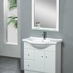Dreamline EuroDesign Vanity DLVRB-116 White - PRODUCT SPECIFICATIONS