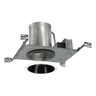 Juno Lighting Group - 5-inch Recessed LED Lighting Kit with Black Trim - IC20LED-G3-2700K/205B-WH KIT - Enjoy the appearance of a conventional incandescent fixture with the energy saving benefits of LEDs. This recessed kit provides a light that is similar to a 65-watt BR30 bulb while using only 14 watts of energy at 3000 Kelvin which produces a warm white light. The low wattage combined with an average lifespan of 50,000 hours will provide you with savings year after year on your energy bill. The black baffle features a grooved interior helps to absorb extra light while providing a crisp appearance that blends easily into the ceiling. Takes (1) 14-watt LED bulb(s). Bulb(s) included. Dry location rated.
