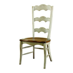 "Hooker Furniture - Summerglen Ladderback Chair - Set of 2 - Side - White glove, in-home delivery!  For this item, additional shipping fee will apply.  This casual country chair is crafted from hardwood solids and cherry veneers and handpainted.  Set of two chairs.  Wood seat.  Arm Height: 24 1/2"" h  Arm to Arm - Widest Angle: 19"" w  Seat Depth: 21 5/8"" d  Seat Height: 18 1/4"" h"
