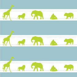 Murals Your Way - Jungle Ribbons - Boy Wall Art - Painted by Simon & Kabuki, Jungle Ribbons - Boy wall mural from Murals Your Way will add a distinctive touch to any room