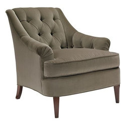 Marler Tufted Chair - The clean lines of this chair fit right in with today's modern decor, especially in a gray hue.