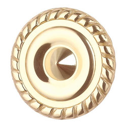 "Renovators Supply - Cabinet Knobs Bright Solid Brass 1 1/4"" Dia Roped Cabinet Knob - Give your cabinets a bright new look with this modern 1 1/4"" roped circle cabinet knob. Polished brass finish."