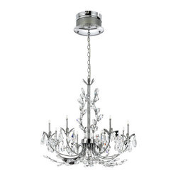 Eurofase Lighting - Eurofase Lighting 19393 Crystal 8 Light Giselle Chandelier Illumination - 8 Light Giselle Chandelier from the Illuminations CollectionCelestially inspired, the airy nature of these chandeliers are an elegant inception of ethereal beauty. The lithe arms create an uplifting illumination that sparkles with delicately cut crystals and brilliant lighting.Features: