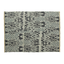 Reversible 100% Wool 8'X10' Ikat Design Hand Woven Soumak Flat Weave Rug SH6066 - Soumaks & Kilims are prominent Flat Woven Rugs.  Flat Woven Rugs are made by weaving wool onto a foundation of cotton warps on the loom.  The unique trait about these thin rugs is that they're reversible.  Pillows and Blankets can be made from Soumas & Kilims.