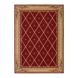 """Nourison - Nourison Ashton House 3 Sienna Area Rug, 2'x5'9"""" - In richly saturated shades of claret, gold, pink, brown and pale green, a beautifully bordered aristocratic floral and diamond design oozes old world charm, elegance and sophistication. Stunningly detailed hand carving imparts a spellbinding texture, depth and dimension. What's included: Rug (1)."""