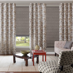 Bali Draperies - Grommet Top Drapery. Whites and off-whites,Neutrals and earth t - Grommet Top Drapery - Buy with Confidence, Get Free Samples Today!Sleek and modern, the custom-made Bali Grommet Drapery is perfect for any contemporary setting.