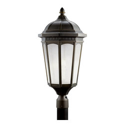 Kichler - Kichler Courtyard One Light Rubbed Bronze Post Light - 11015RZ - This One Light Post Light is part of the Courtyard Collection and has a Rubbed Bronze Finish. It is Energy Efficient, Title 24 Compliant, and Outdoor Capable.