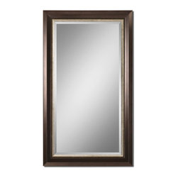 Uttermost - Blaisdell Espresso Bronze Mirror - Open up a room with this bronze and silver accented mirror. This large, elegant mirror will expand the view in any room in your home. In feng shui, mirrors are used to expand a space and draw in beneficial water energy to the room. Of course, you can always use them to check your own reflection.