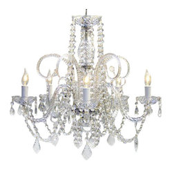 The Gallery - Large Crystal Chandelier, Set of 10 - Turn on the charm with this classically designed crystal chandelier that reflects the centuries-old artistry of Venetian glassmakers. You can order one or, for your great hall, a set of 10.