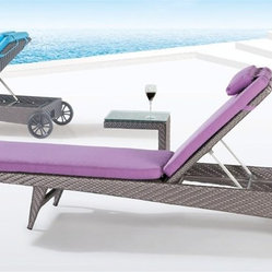 Bahama Lilac Adjustable Patio Chaise Lounge - This adjustable chaise lounge brings comfort, style, and flexibility to your outdoor decor. Minimum order: 2 lounge chairs.