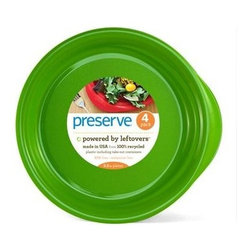 Preserve Everyday Plates - Apple Green - 4 Pack - 9.5 In - Powered by Leftovers