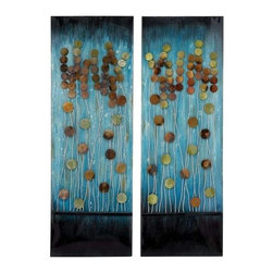 """Benzara - Handcrafted Metal Wall Plaque with Aesthetic Appeal 2 Assorted - Handcrafted Metal Wall Plaque with Aesthetic Appeal 2 Assorted. A gorgeous metal Plaque has been designed to add an aesthetic appeal to your mundane decor. It comes with a dimension of 12"""" W x 1"""" D x 36"""" H. Some assembly may be required."""