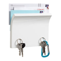 Piano White Magnetter Key & Letter Holder - Keep your mail and keys in one place with this neat and tidy magnetic holder.