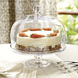 Ballard Designs - Vittoria Glass Cake Dome - Dishwasher safe. Cake Stand and Cake Dome each sold separately. Crafted of clear, hand-blown glass, our classic Vittoria Glass Cake Stand and Cake Dome is high enough to protect your precious layer cake or delicate meringue. The cake dome features a substantial turned knob finial, so it's easy to place and remove, while the cake stand features a gently flared rim and raises your dessert above the buffet crowdVittoria Glass Cake Stand and Cake Dome features: . .