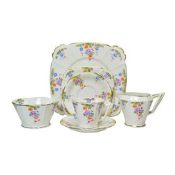 Lavish Shoestring - Consigned 12 Placements Art Deco Tea Set by Royal Albert, English, circa 1930 - What you need to know
